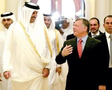 پادشاه اردن پیام امیر قطر را دریافت کرد