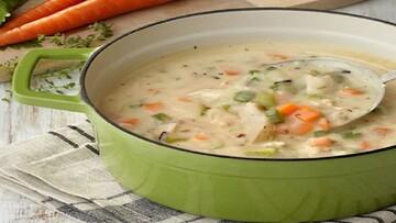 دستور پخت سوپ جو با پنیر پارمسان برای افطار