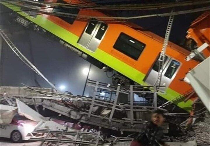 ریزش پل قطار شهری در مکزیکوسیتی / ۱۵ کشته و دهها زخمی