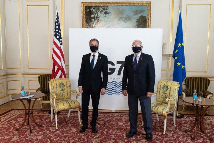 گفتگوی بورل با وزیر خارجه آمریکا درباره مذاکرات برجام
