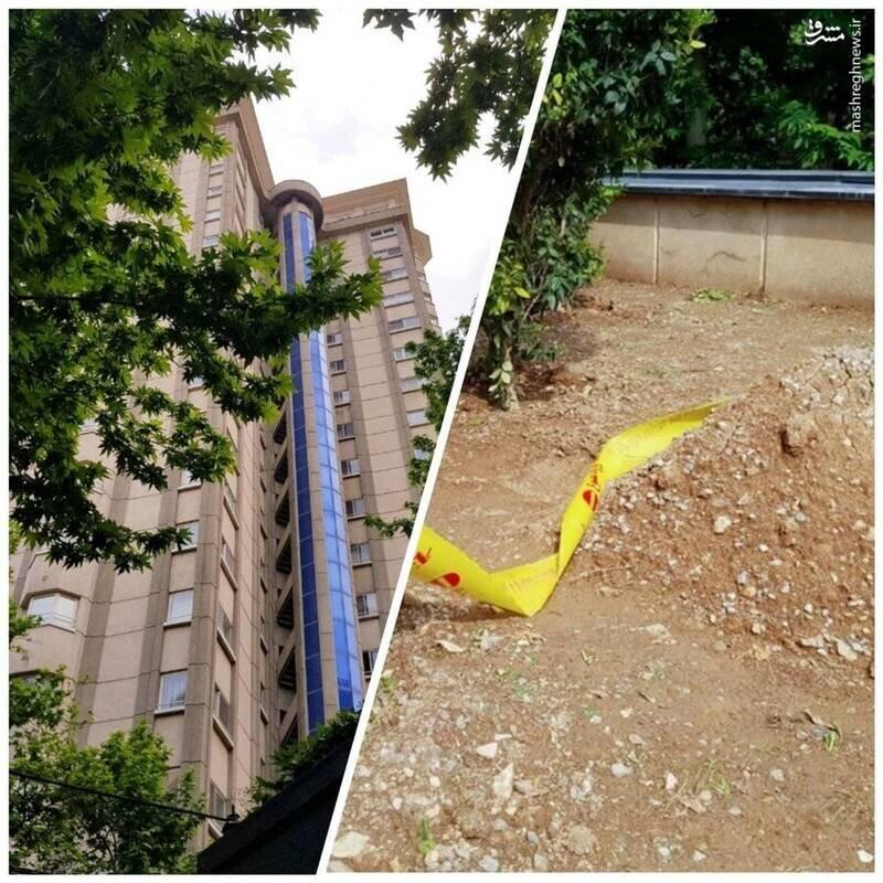 عکس/ محل سقوط و کشف جسد دبیر اول سفارت سوئیس