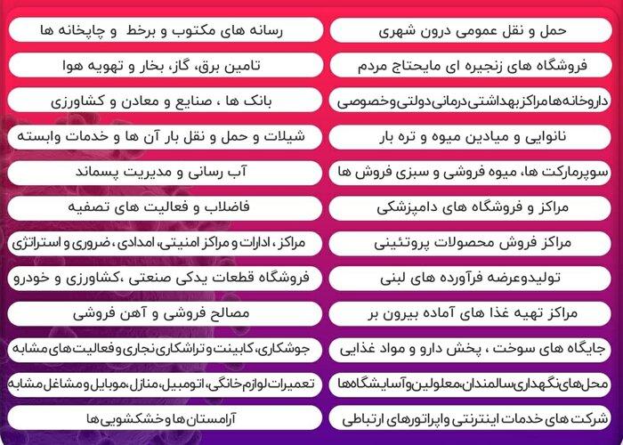 اسامی شهرهای قرمز و نارنجی در استان تهران اعلام شد