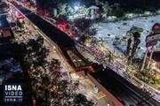 صحنه وحشتناک ریزش پل روگذر مترو / فیلم