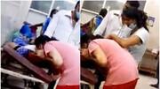 تصاویری دردناک از تلاش دختر برای نجات مادرش که به کرونا مبتلا بود / فیلم