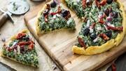 پیتزا اسفناج با پنیر، مناسب گیاهخواران + طرز تهیه