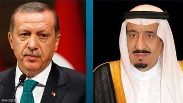 اردوغان و پادشاه عربستان تلفنی گفت و گو کردند