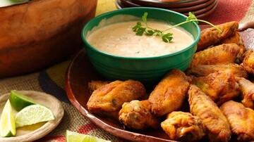 نحوه درست کردن بال مرغ مکزیکی خوشمزه