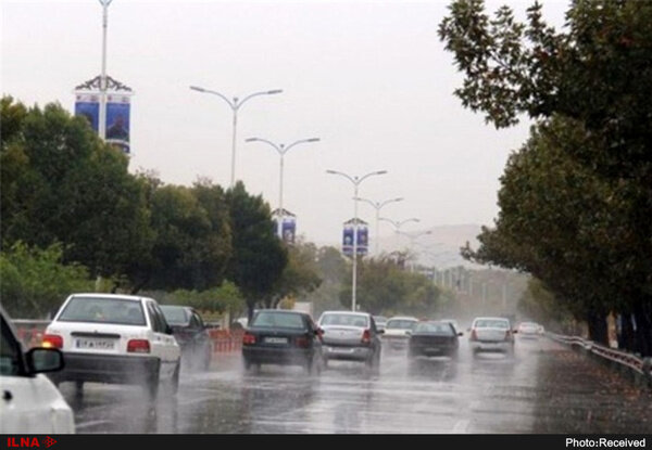 باران زیبای بهاری در تهران / فیلم