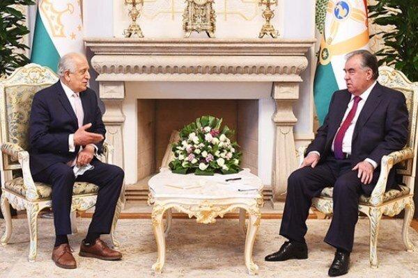 دیدار زلمای خلیلزاد با رییسجمهور تاجیکستان