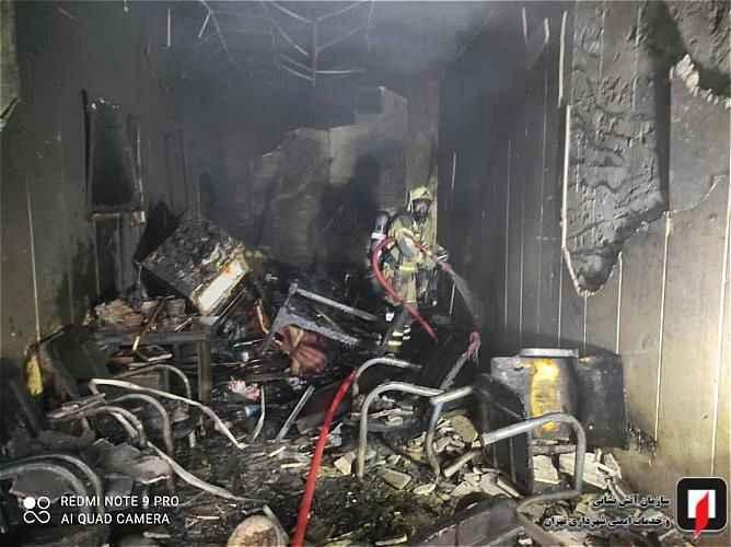 یک مغازه در عبدل آباد آتش گرفت/ تصاویر