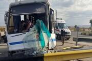 تصادف خونین مینی بوس در تهران / آمار مصدومان اعلام شد