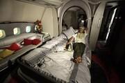 هواپیمای اختصاصی قذافی پس از هفت سال به پرواز درآمد / فیلم