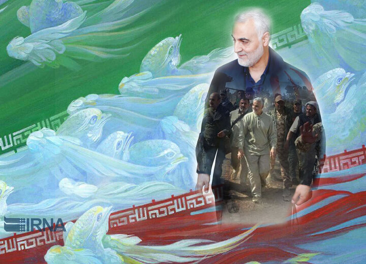 رونمایی از تندیس سردار سلیمانی در تهران / عکس