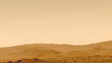 پرواز موفقیتآمیز بالگرد «نبوغ» در مریخ / عکس