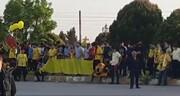 تجمع هواداران سپاهان قبل از بازی مقابل پرسپولیس / فیلم