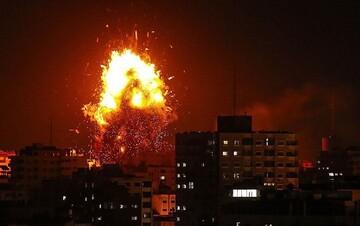 بمباران نوار غزه از سوی رژیم صهیونیستی