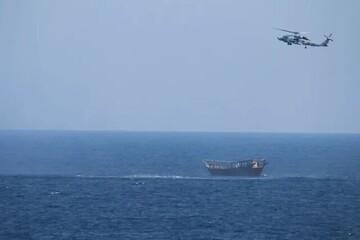 توقیف یک محموله تسلیحاتی در دریای عرب از سوی آمریکا
