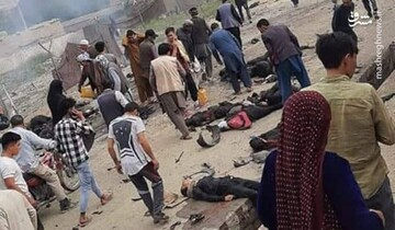 انفجار کابل؛ نالههای دردناک مادر بر سر جنازه فرزند / فیلم