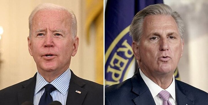 دیدار بایدن با رهبر اقلیت جمهوریخواه مجلس نمایندگان آمریکا برای اولین بار