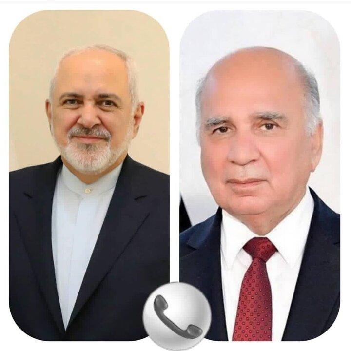 گفتوگوی ظریف با وزیر خارجه عراق درباره حمله به کنسولگری ایران در کربلا