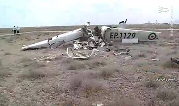 مرگ دلخراش دو سرنشین هواپیمای آموزشی در اراک / فیلم