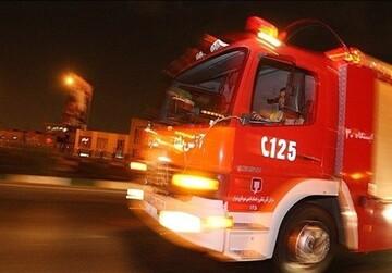 وقوع آتشسوزی در انبار لوازم خانگی در جنوب تهران