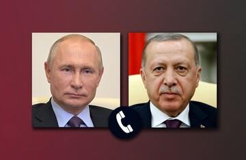 پوتین و اردوغان درباره اوضاع فلسطین گفتکو کردند
