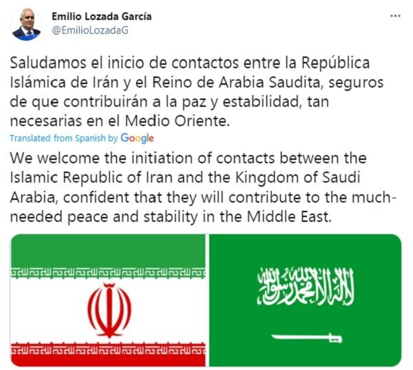 از مذاکرات ایران و عربستان استقبال می کنیم