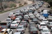 آخرین وضعیت ترافیکی جادهها   ترافیک سنگین در آزادراه کرج - قزوین