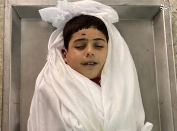 تصویری تلخ از لبخند کودک شهید فلسطینی
