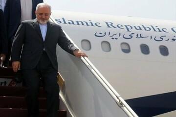 آغاز تور اروپایی وزیر خارجه ایران؛ ظریف وارد مادرید شد