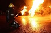 انفجار مرگبار تریلی در بجستان / دو نفر در آتش سوختند