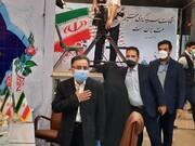 تاجزاده همراه همسرش به ستاد انتخابات کشور رفت / فیلم