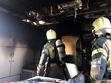 تصاویری از وقوع آتشسوزی در بیمارستان بقیه الله تهران