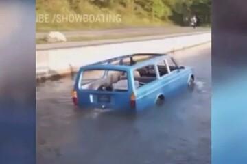 خودرویی که قابلیت حرکت در آب را دارد! / فیلم