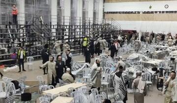 زخمی شدن ۶۰ صهیونیست بر اثر ریزش یک سکو در کنیسه