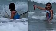 صحنه وحشتناک حمله کوسه به دختر ۶ ساله! / فیلم