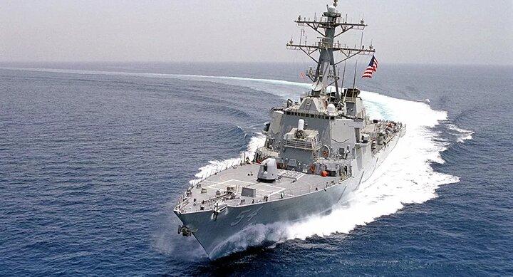 کشتی جنگی آمریکا بدون اجازه به آبهای سرزمینی چین وارد شد
