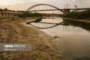 تصاویری تلخ از خشکسالی رود کارون