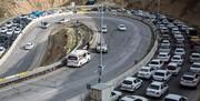 آخرین وضعیت ترافیکی جادهها   تردد بسیار سنگین در محور چالوس
