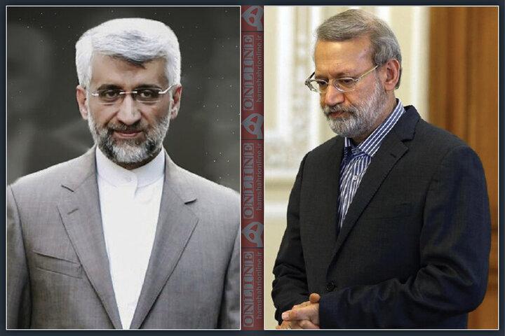 کنایه تند لاریجانی به جلیلی / به عنوان یارکمکی آمدید تا ضعفهای کاندیدای اصلی را بپوشانید