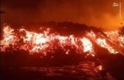 لحظه فوران آتشفشان در کنگو / فیلم