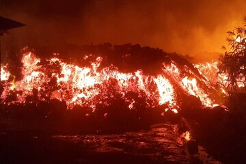 آتشفشان «نیراگونگو» در کنگو فوران کرد / فیلم