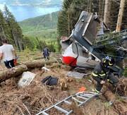 سقوط فاجعهبار تله کابین در ایتالیا با ۱۴ کشته
