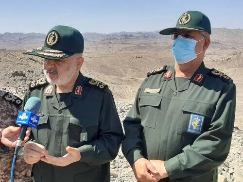 بازدید فرمانده کل سپاه از نقطه صفر مرزی جنوب شرق کشور