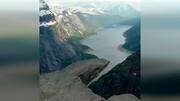 صخرهای با قدمت ۱۰ هزار سال در نروژ / فیلم