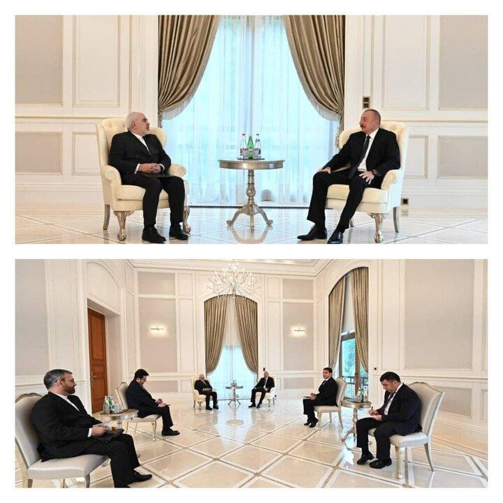دیدار ظریف با الهام علیاف در باکو