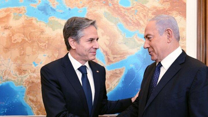 آنتونی بلینکن با نخستوزیر رژیم صهونیستی دیدار کرد