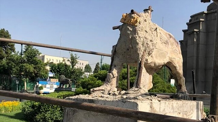 ماجرای تخریب مجسمه شیرهای ۸۵ ساله میدان حر چیست؟