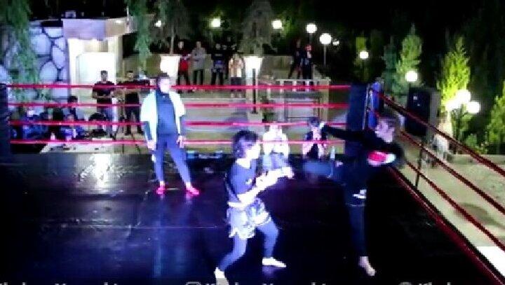 مبارزه دختران تهرانی در باغهای اطراف شهریار / فیلم